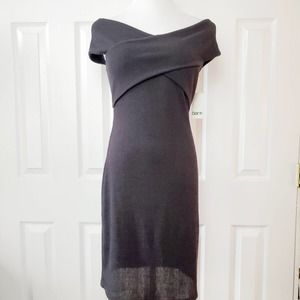 Bar III Ribbed Off The Shoulder Sweater Dress